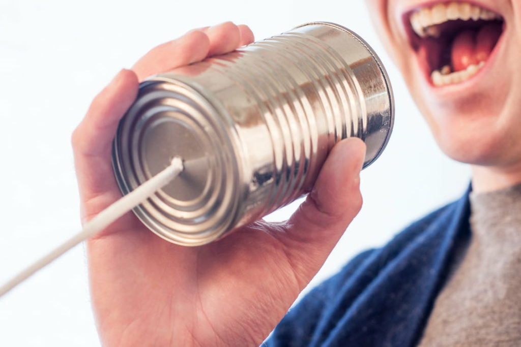 Making a tin can phone can teach your child about sound waves